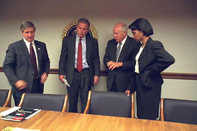 bush 9 11 september 2001 white house