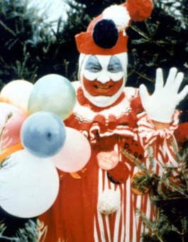 John Wayne Gacy as a clown