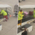 Passenger Films Baggage Handler Throwing Luggage At Manchester Airport