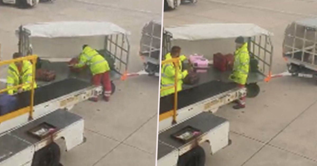 Baggage handler can't handling luggage roughly.