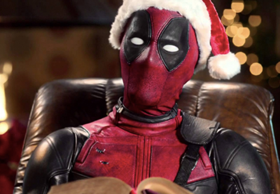 Deadpool Santa hat