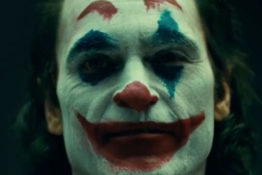Footage of Joaquin Phoenix as The Joker.