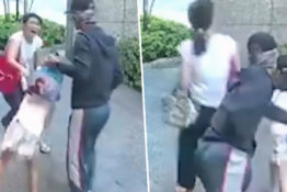 Mother fights of man trying to kidnap daughter