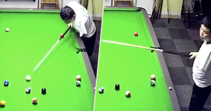 One armed pool player obliterates competition.