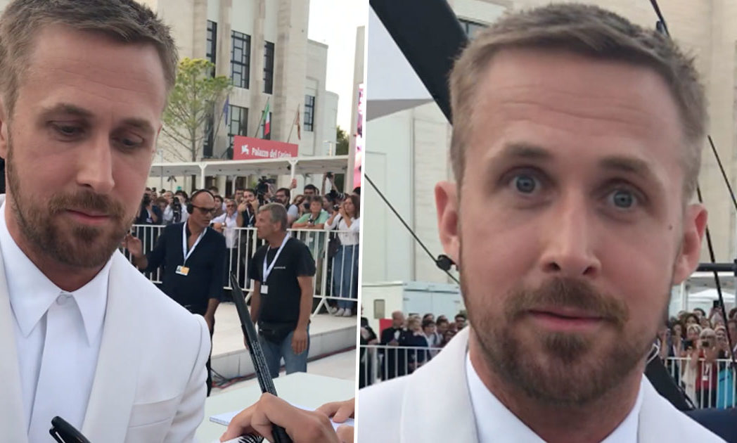 Ryan Gosling startled Venice film festival