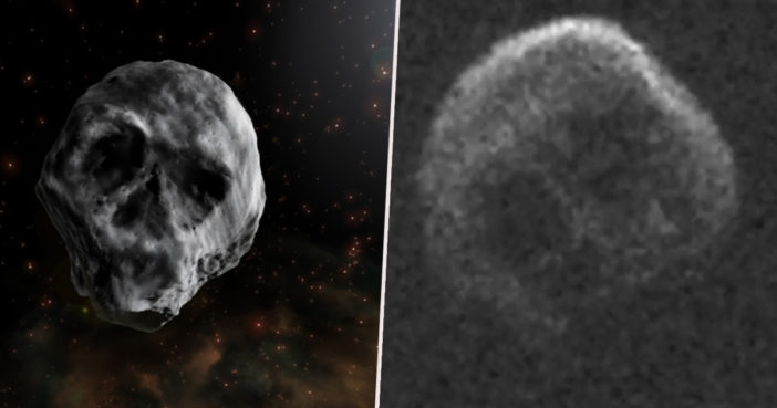 A comet the shape of a skull is headed for earth.