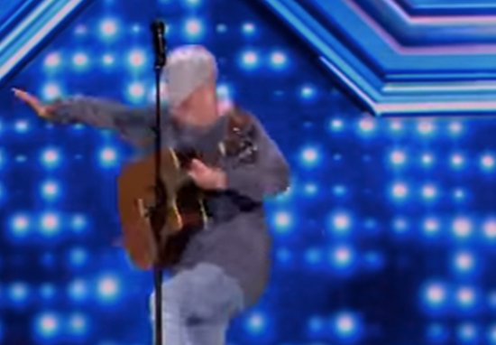 X Factor contestant falls off stage