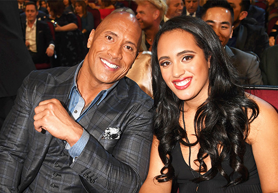 the rock and daughter simone