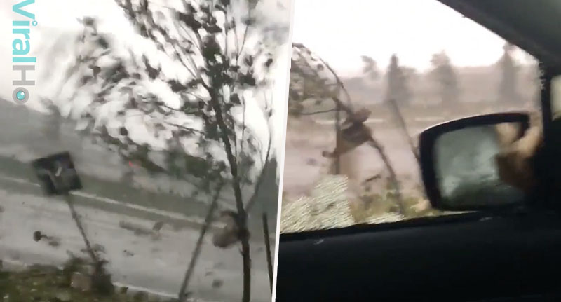 Woman Trapped In Car During Tornado