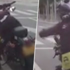 Biker Throws Woman's Rubbish Back Into Her Car