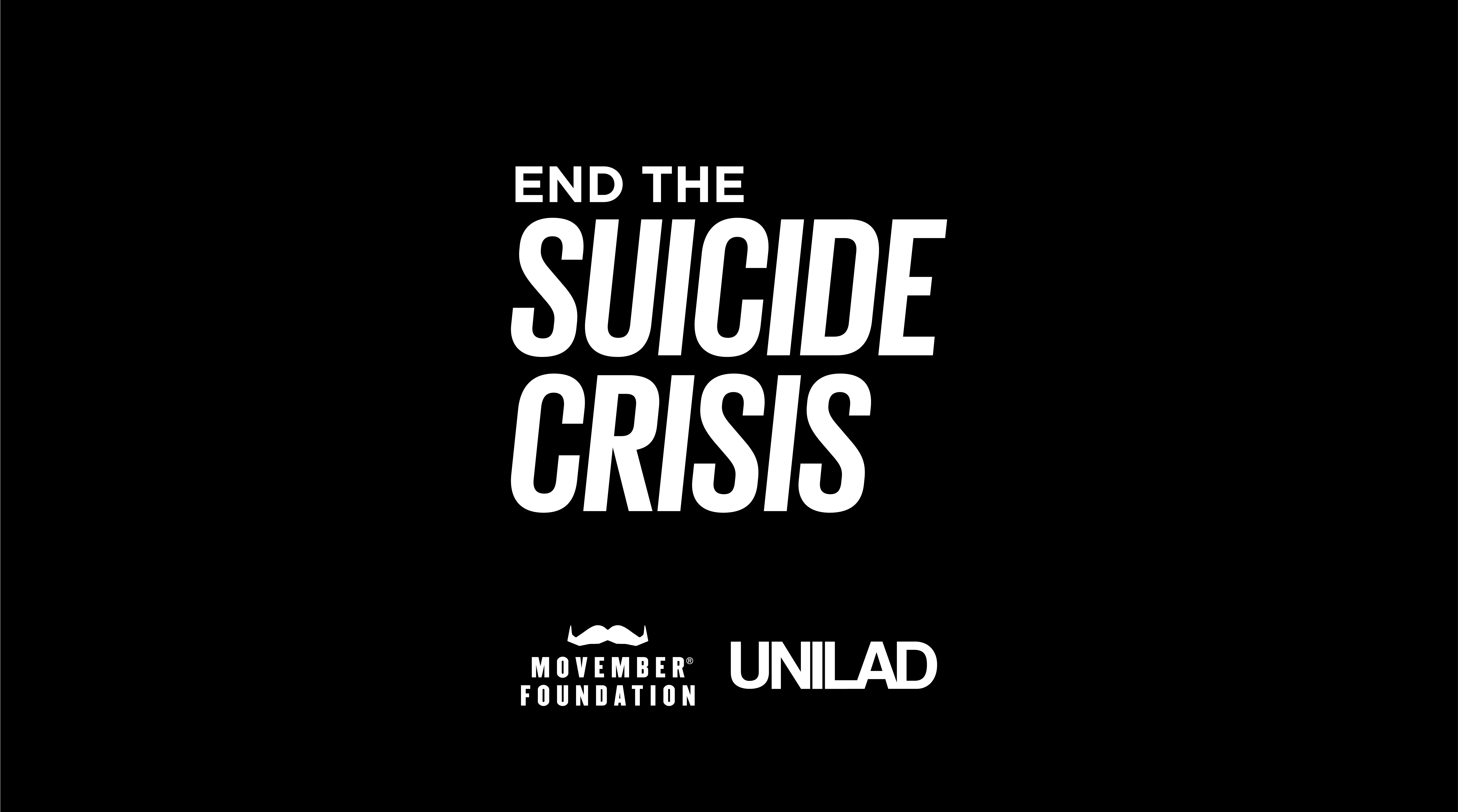 The UKs Male Suicide Crisis Takes 84 Lives Every Week campaign footer