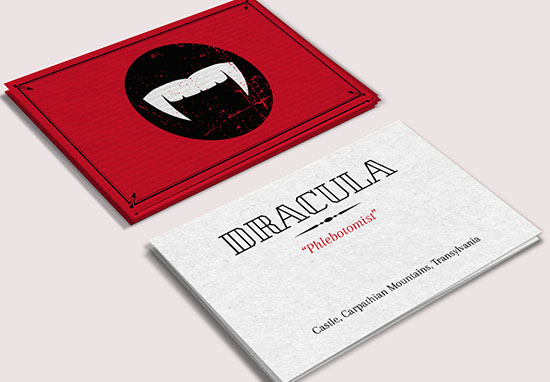 Dracula business card