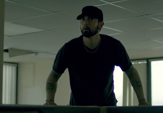 eminem in fall video