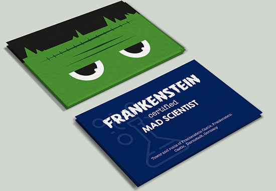 Frankenstein business card