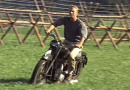 Great Escape motorbike scene