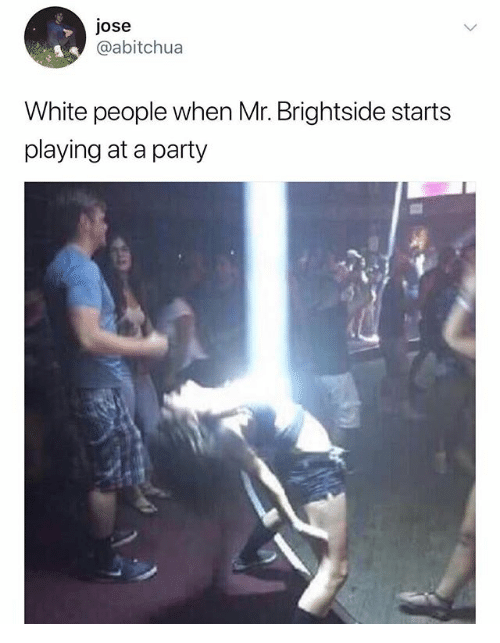 mr brightside white people meme