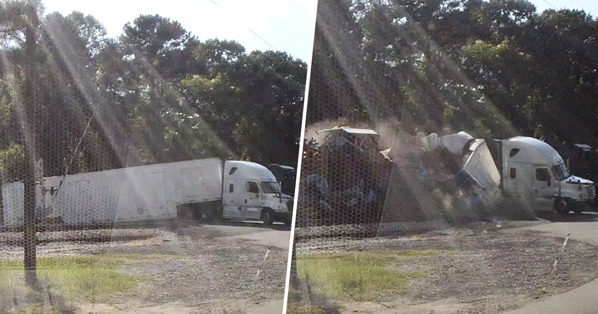 freight train hits lorry