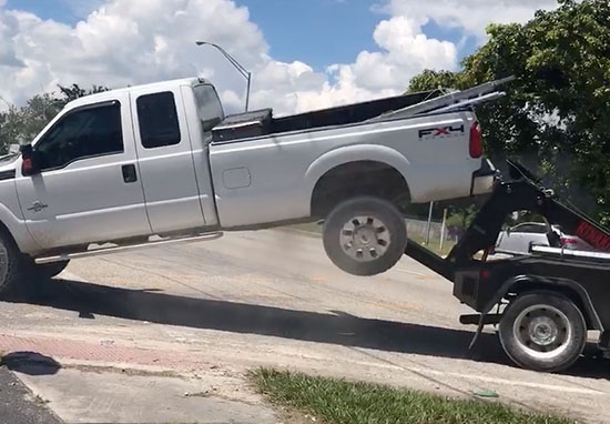 Guy tries to reclaim truck but fails
