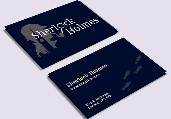 Sherlock business card