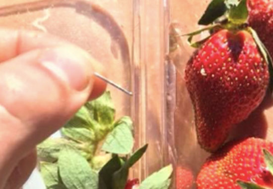 Needles in strawberries