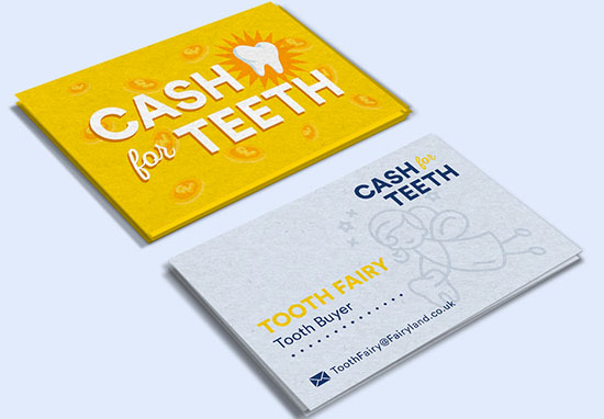 Tooth fairy business card