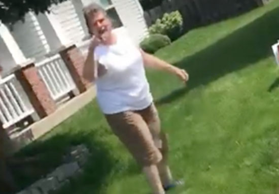Woman attacks hispanic neighbours