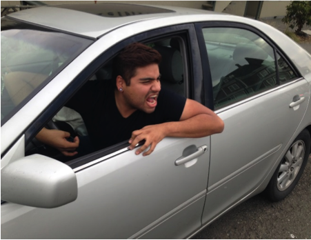 Angry Man In Car