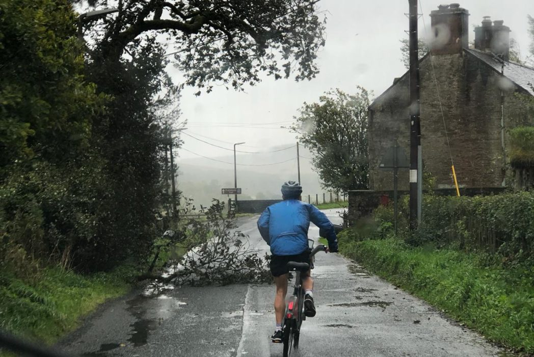 boris bike john o'groats land's end storm ali doesn't stop baz