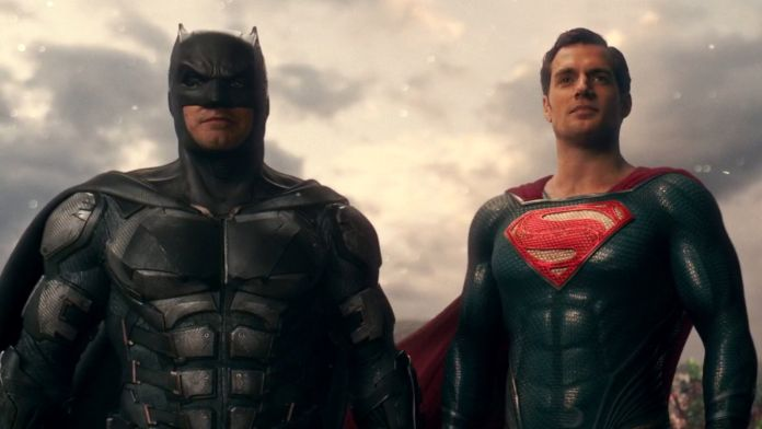 Batman and Superman played by Henry Cavill and Ben Affleck