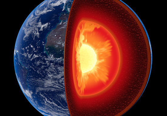Scientists have made a discovery about the earth's core.