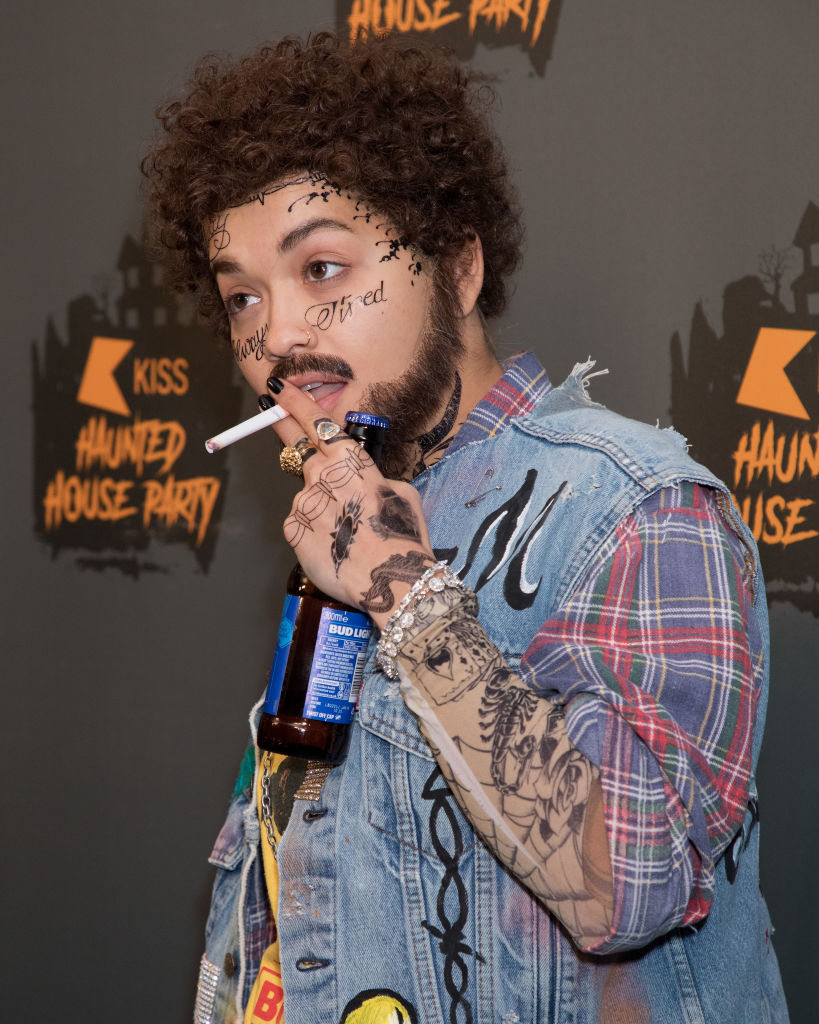 Rita Ora dressed as Post Malone