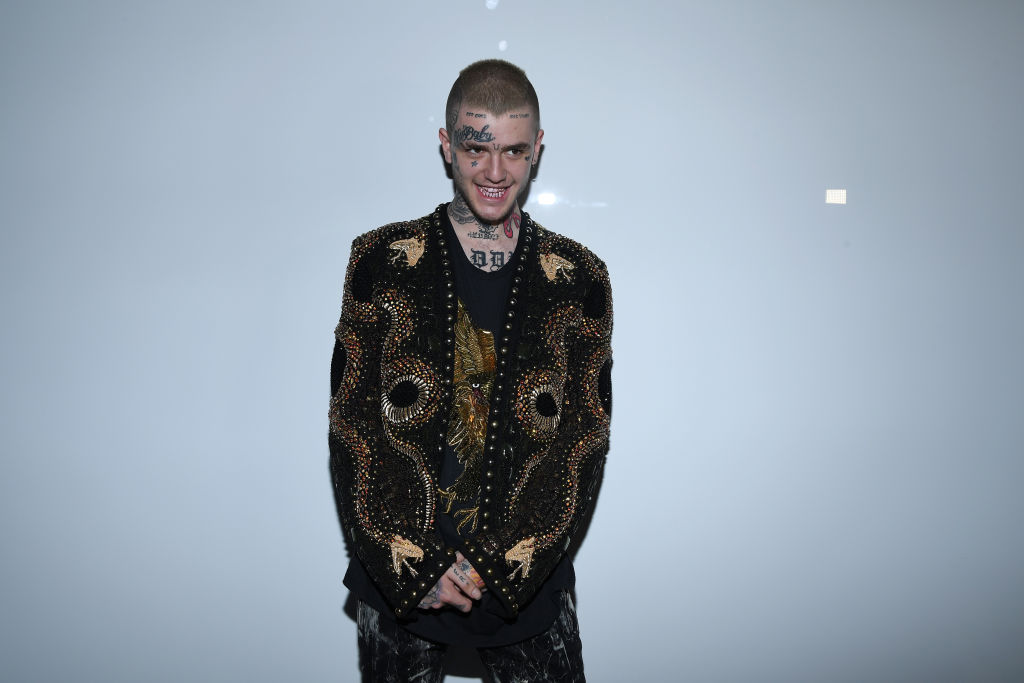 rapper Lil Peep's legacy includes his aesthetic, pictured here as he attends the Balmain Menswear