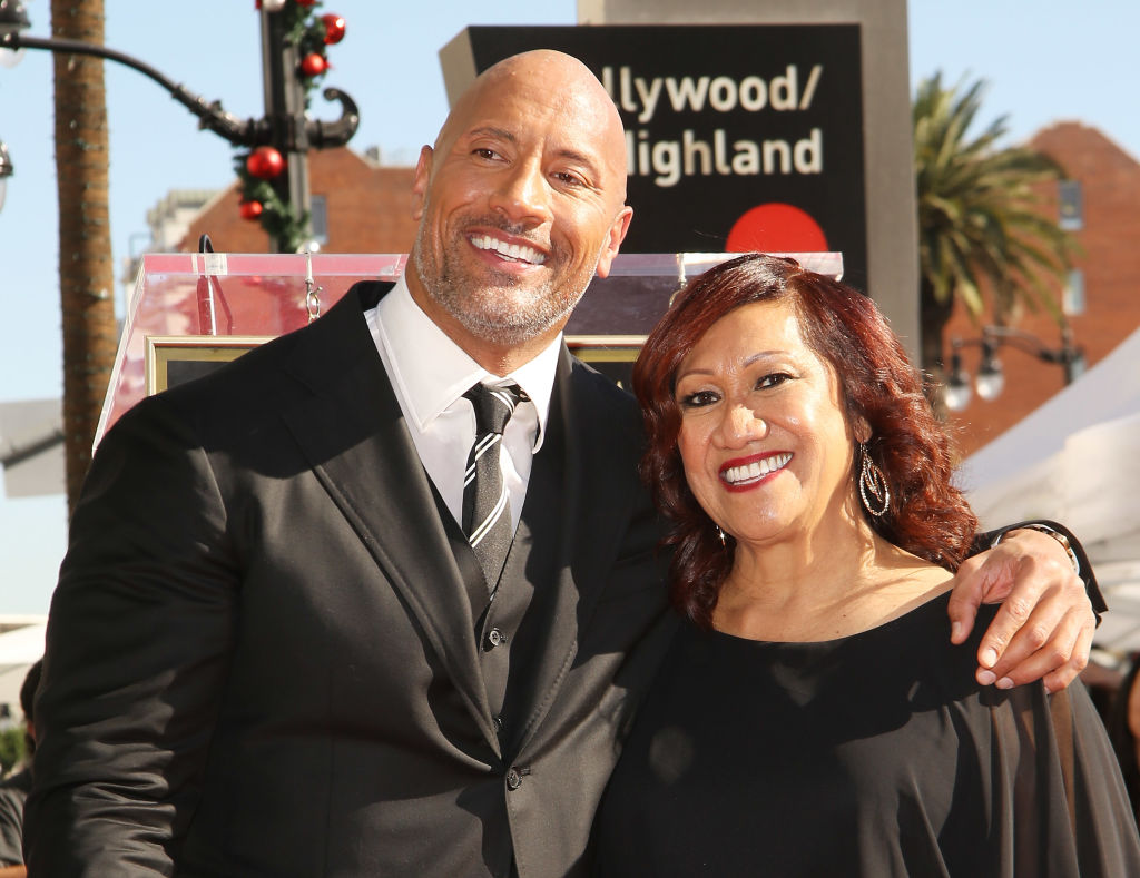 The Rock with his mum