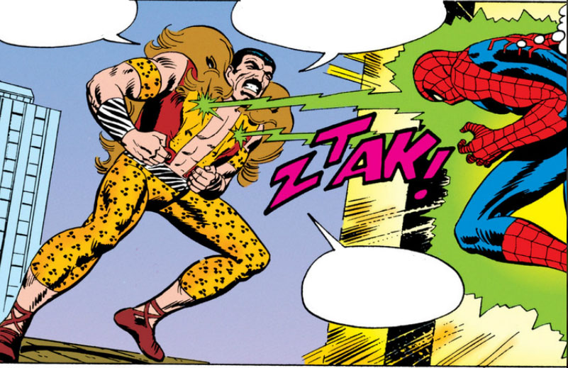 Kraven's deadliest power is his laser nipples - John Romita Sr - Marvel Comics