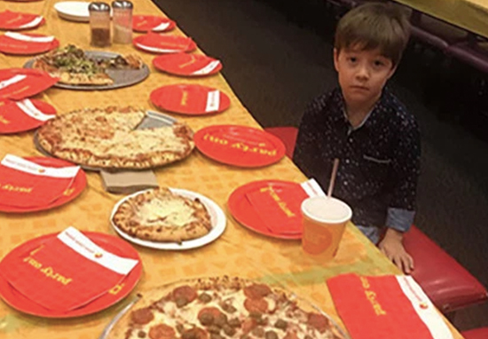 Boy's friends fail to turn up to birthday party.
