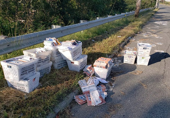 Postal Worker Dumps Post