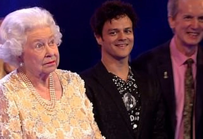 The Queen and Jamie Cullum