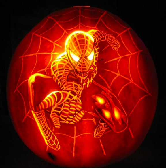 spider-man pumpkin
