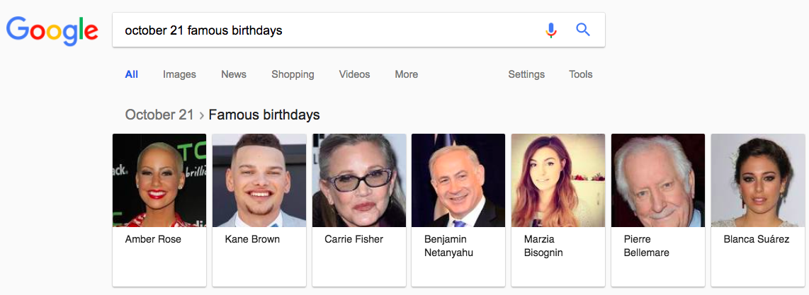 Google ignores Kim Kardashian's birthday