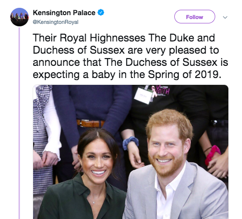 Harry and Meghan baby announcement