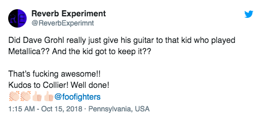 10-year-old invited on stage with foo fighters