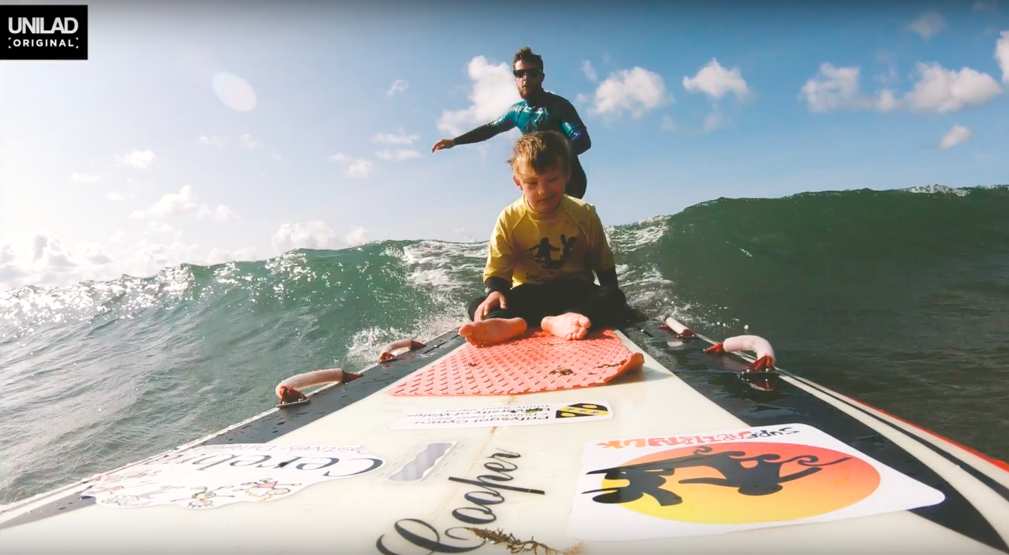 Surfability employee who helps disabled kids surf