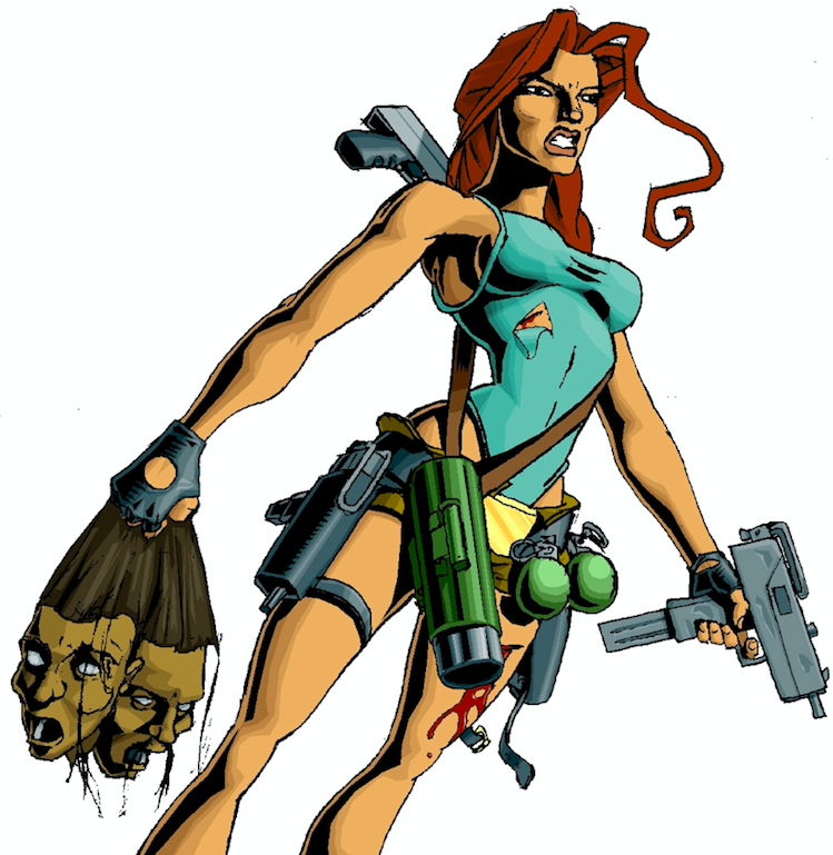 lara croft 1996 concept art