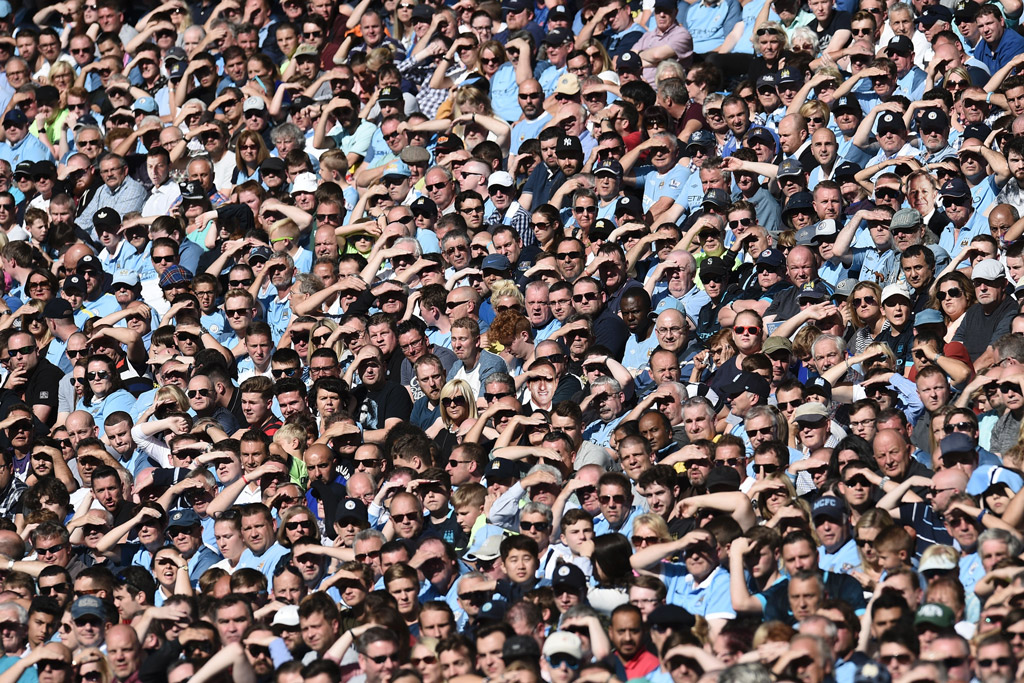 Football crowd in Sky Sports puzzle