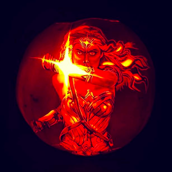 Wonder Woman pumpkin