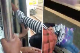 Woman Saved By Passenger On Train