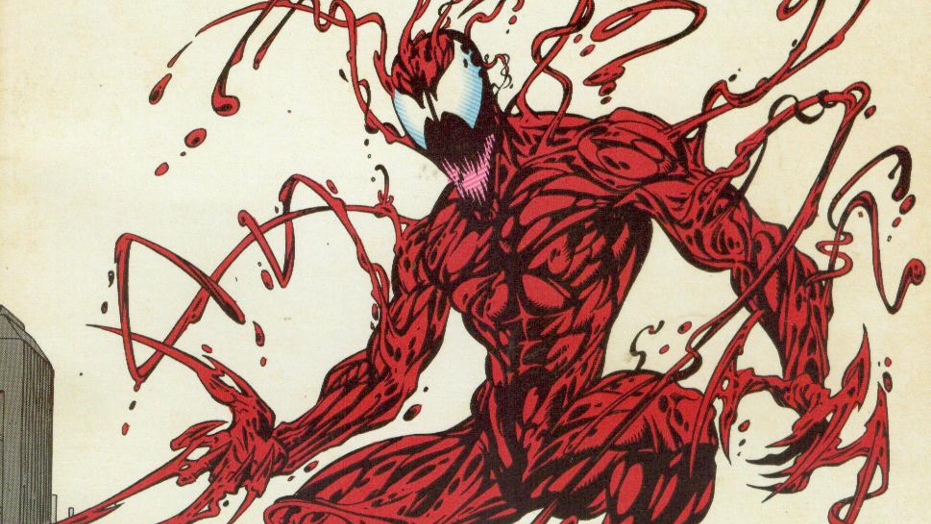 Carnage the son of Venom and not a totla Joker rip-off