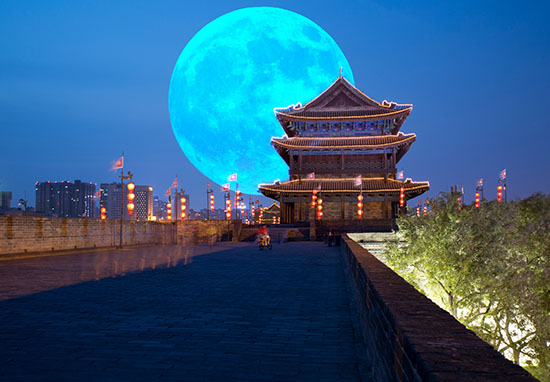 blue moon in china
