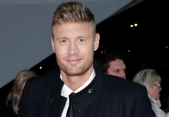 Cricket legend Freddie Flintoff