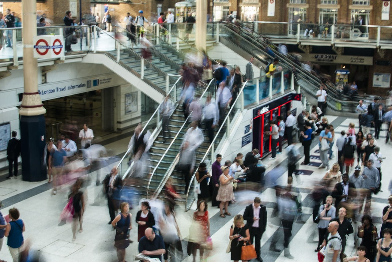 london liverpool street station busy david attenborough population growth